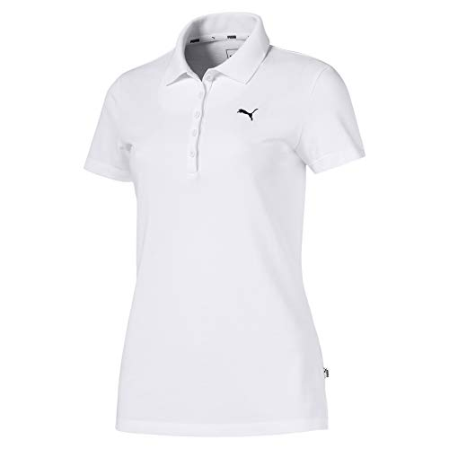 PUMA Damen ESS Polo Poloshirt, White-Cat, S