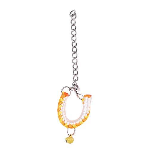 Jarchii Kragen Kleines Haustierhalsband, weiches Halsband, Foto Nylonleder für Hamster(Yellow orange)