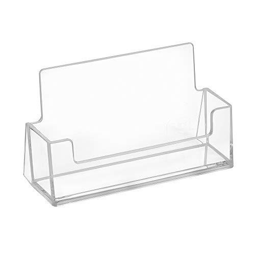 10 Stück Visitenkartenständer im Querformat - Zeigis® / Visitenkartenhalter/Transparent/Tisch/Freistehend/Tischaufsteller/Tischständer