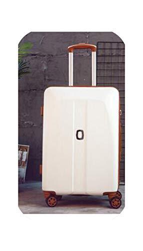 Maleta de viaje para mujer Maleta rodante bolsa de equipaje Spinner Case, negro, 22 pulgadas, color Blanco, talla 22 EU