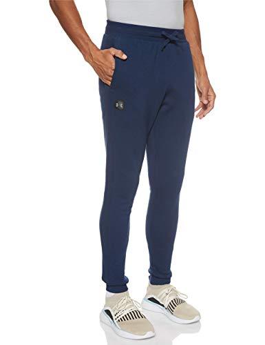 Under Armour Rival Fleece Jogger Pantalones, Hombre, Azul (Academy/Black 408), L