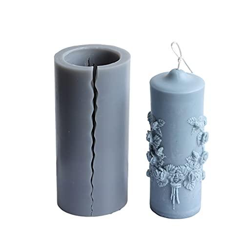Molde de silicona para hacer velas, 3D, redondo, para hacer jabón, velas, 15 cm