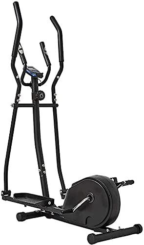 Equipo de Gimnasio para el hogar Bicicleta elíptica Máquina compacta para Adelgazar Bicicleta estática con 8 Niveles de Resistencia Máquina de Entrenamiento de Cardio y Fitness Multifunción Aeróbica