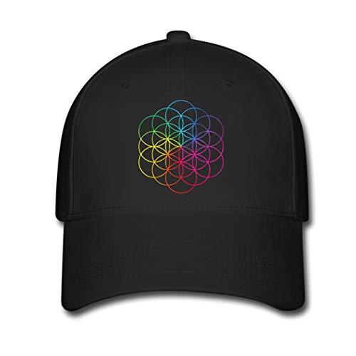 Coldplay Tour A Head Full of Dreams Custom Printing Baseball Caps Sun Hats Black