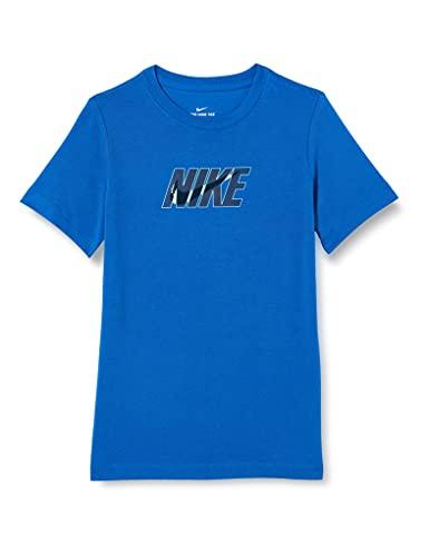 NIKE B NSW tee Swoosh Glow T-Shirt, Game Royal, L Boys
