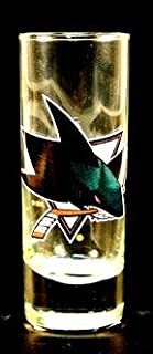 NHL Licensed 2.5 Oz. Shooter Hype Cordial Style Shot Glass (San Jose Sharks)