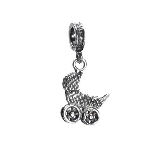 BONA ROCA Charm Kinderwagen/Öse, Sterling Silber 4533