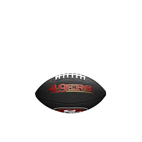 Wilson Unisex-Youth MINI NFL TEAM SOFT TOUCH FB BL SF American Football, BLACK,