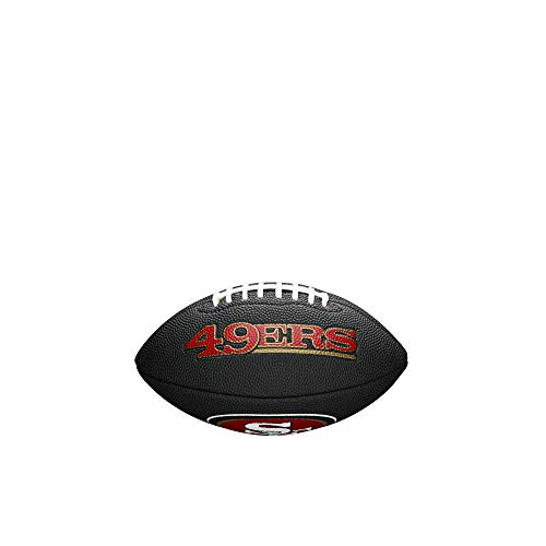 Wilson Unisex-Youth MINI NFL TEAM SOFT TOUCH FB BL SF American Football, BLACK,