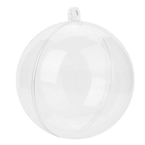 20 palline di plastica trasparente per decorazioni fai da te per albero di Natale, bomboniere di compleanno, 5 cm