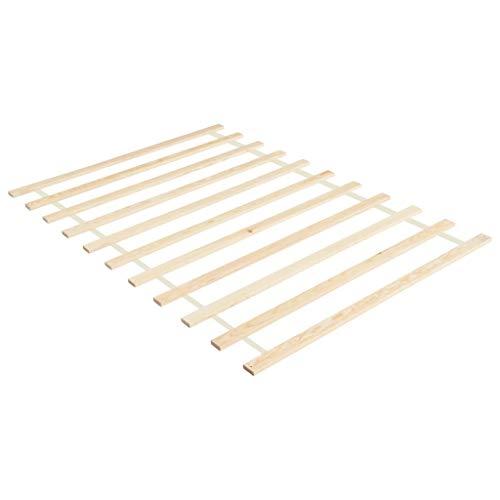 vidaXL Kiefernholz Massiv Lattenrost Rollbar mit 11 Latten Rollrost Bettrost Rolllattenrost Rollroste Holzlatten Latten Rost 100x200cm
