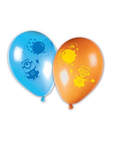 Generique - Offizielle Minions-Luftballons 8 Stück blau-orange