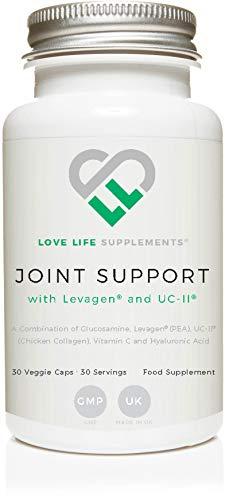 Joint Support | Supporto congiunto con Levagen® (Palmitoiletanolamide) e Collagene di pollo UC-II® di Love Life Supplements | 30 capsule - 30 porzioni