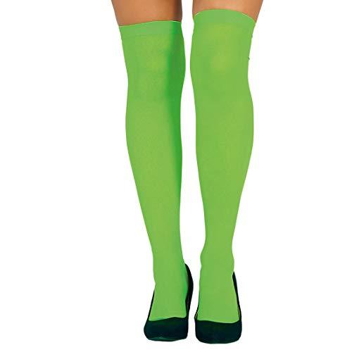 NET TOYS Overknee-Strümpfe für Damen | Grün | Aufreizendes Frauen-Accessoire Halterlose Strümpfe | EIN Blickfang für Fasching & Karneval
