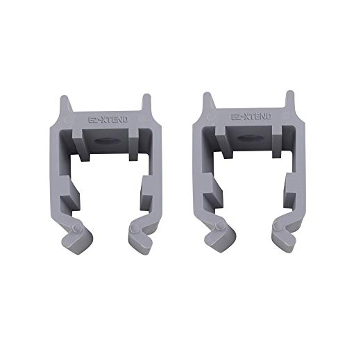 EZ-Xtend Pontoon Bimini Top Clips for Square Frames. Secures Your Pontoon Support Poles to Frame. Available in 3 Sizes, Black and Gray, Marine Grade, Made in USA. Sold in Pairs. (Gray, 1-1/4' Clips)