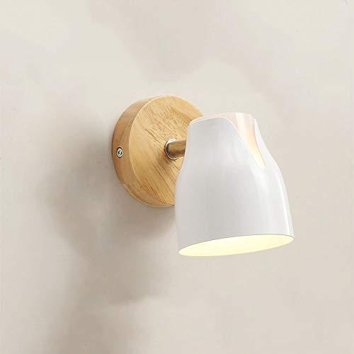 ZSLLO Wandlamp, creatieve mode, bedlamp, eenvoudige moderne hotel, slaapkamer, woonkamer, led-wandlamp met schakelaar, lezen, wandlamp