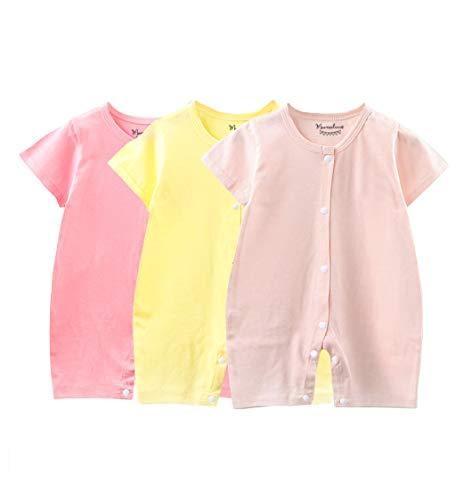 Mamelucos - Pack 3 Pijamas de Verano para Bebes de 3 a 12 Meses de Marca Mamelucos