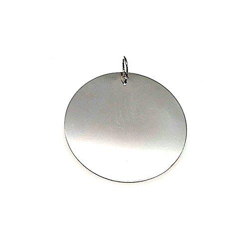 Colgante plata ley 925m 43mm. disco plano [AA8150GR] - Personalizable - GRABACIÓN INCLUIDA EN EL PRECIO