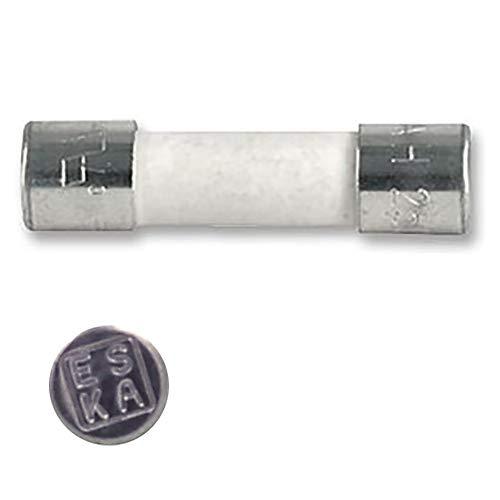 Eska - Lote de 10 fusibles temporizados (T), cristal, 1,6 A, 250...
