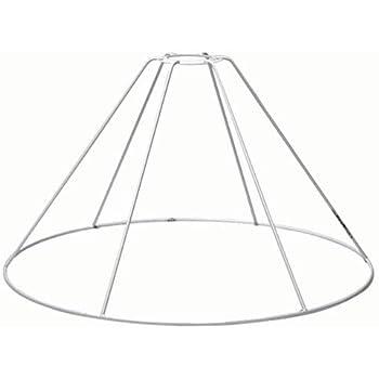 H 17,5/cm /Ø 27,5/cm /Ø ou 25/cm SMITS Armature Abat-Jour Blanc plastifiziert