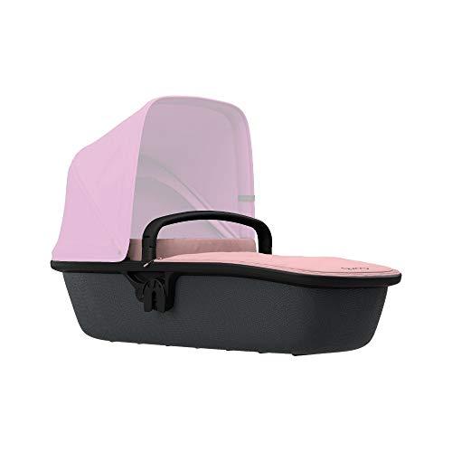 Quinny Lux Kinderwagenaufsatz, passend für Buggy Zapp Flex und Zapp Flex Plus, ultraleichte Babywanne, robust und atmungsaktiv innovatives Design, nutzbar ab der Geburt bis 6 Monate, blush on graphite