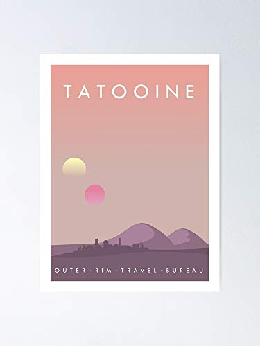 guyfam Tatooine Poster 12x16 Inch No Frame Board for Office Decor, Best Gift Dad Mom Grandmother and Your Friends