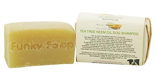 Funky Soap Champú para Perro Tea Tree & Neem, 100% Natural, Hecho a Mano,...