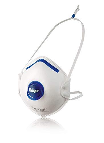 Dräger X-plore 1310 V | 10x mascarilla respiratoria protección FFP1 | Semimáscara con válvula Antipolvo, partículas y Aerosoles