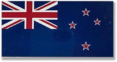 ニュージーランド 国旗 ステッカー ( スーツケース ・ 車 にも貼れる 屋外 対候 ・ 防水 シール ) (S  約75mmx37mm)