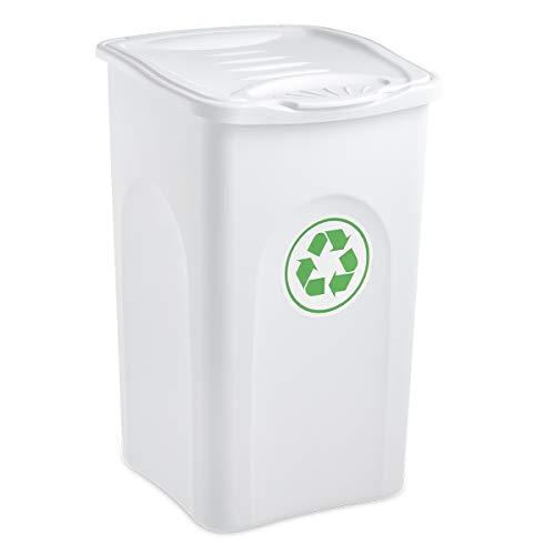 Stefanplast–Cubo de Basura, 50L, Color Blanco