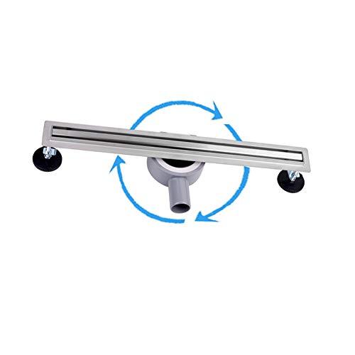 S SIENOC Canale di Doccia canalina di Scarico doccia sistemi drenaggio in acciaio inossidabile per bagno cucina(70cm,Acciaio inossidabile lineare a 360 gradi)