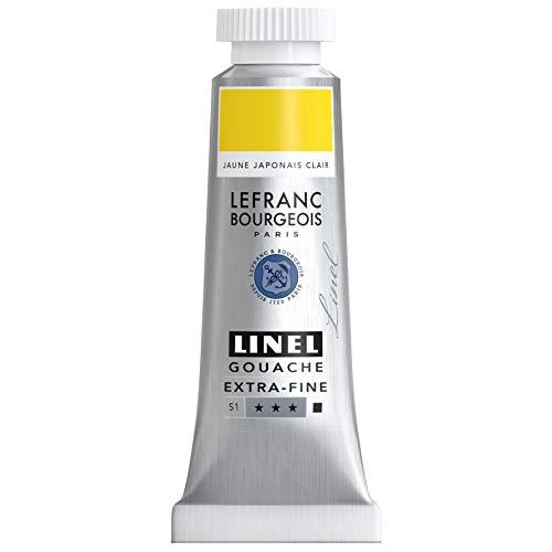 Lefranc Bourgeois Linel Gouache - Tubo extrafino (14 ml), color amarillo japonés claro