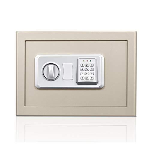 Veilig, digitale kluis met noodsleutel voor het verwijderen van waardevolle spullen, grijs, 37 x 27 x 25,8 m, opbergdoos