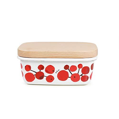 Plato Mantequilla Multifuncional Mantequera hogar rectangular mantequilla fresca de mantenimiento de la caja de almacenaje de cocina Snack-Caja refrigerada de almacenamiento Preservación Mantequera