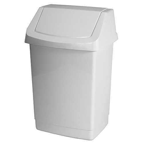CURVER 04042-026-65 Poubelle Click-It 22,9x18,9x38,1cm Blanc, Plastique, 9 x 18,9 x 38,1 cm