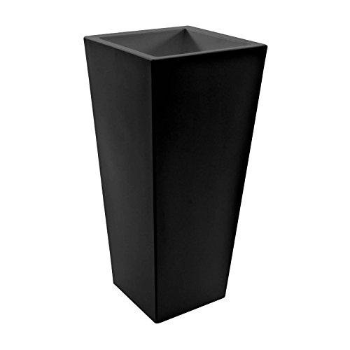Serralunga Kabin Maxi bloempot 100x44 cm LxBxH 44x44x100cm zwart/mat