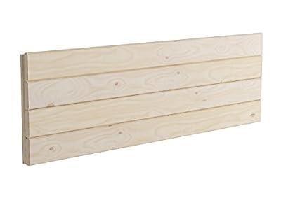 Cabecero de madera para cama de matrimonio de 135 cm Anchura: 100 cm Altura: 44 cm Acabado: Pulido Adaptable a cualquier tipo de cama Al no disponer de patas, es posible colocarlo a cualquier altura