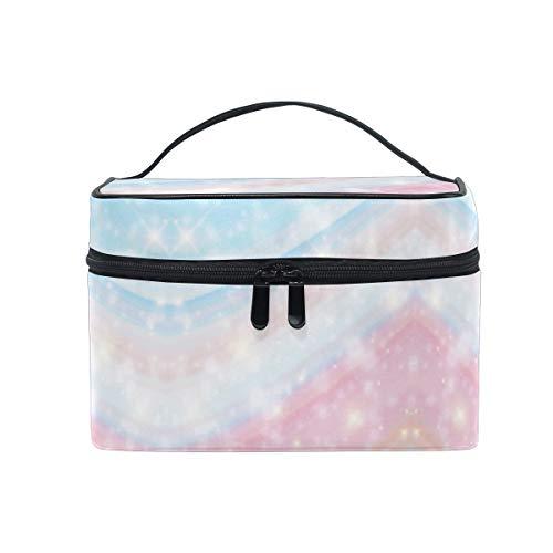 Marbre Licorne Galaxy Pink Print Sac Cosmétique Organisateur Fermeture à Glissière Sacs Trousse de Maquillage Pochette Cas de Toilette pour Voyage Les Femmes Filles