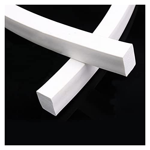 ZaiQu 1/2/3/5Meter Square Sponge Strip White Silicone Foamed Rubber Doors Windows Gasket Trim Seal 5x5mm-20x30mm Home Furniture Repair Parts (Color : 5 Meter, Size : 5 x 30mm)