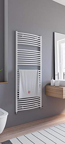 Schulte Badheizkörper Europa, 153 x 60 cm, 823 Watt Leistung, Anschluss beidseitig unten, alpinweiß, Heizkörper mit Handtuchhalter-Funktion, H281535 04