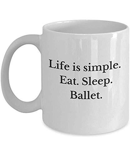 Coffee Mug cadeauset voor ballerina's De taille is eenvoudig te hanteren, Dormi balletspellen, grappig cadeau voor fans van ballerina's en dansdans, perfect kopje van porselein.