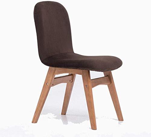 Haushaltsprodukte Massivholz Stuhl Stoff Esstisch Stuhl Moderner minimalistischer Schreibtischstuhl Baumwolle und Leinen Roteiche Dicker Abschnitt Flaches Leinen (Farbe: E)