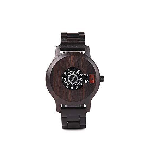 Reloj para Hombre Relojes de Pulsera de Cuarzo de Madera Regalo para Hombre