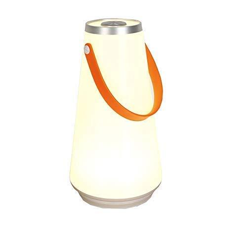 nakw88 Lámpara de Mesa lámpara de luz de Radio portátil lámpara de Mesa Recargable Regulable Control de Sensor táctil luz Nocturna al Aire Libre Bivouacking Cargador USB