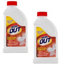 Iron Out Rust Stain Remover Powder, 28 Oz, Pack of 2
