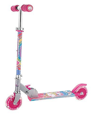 HGL Unicorn Rainbow Scooter con 2 ruedas iluminadas