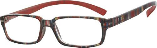 L81 Opticollection Gafas de Lectura para vista cansada con Funda Neopreno varillas al cuello Hombre   Mujer   Lentes Graduadas para Presbicia: +1/ +1.5/ +2/ +2.5/ +3/ +3.5 (+2.00, Rojo)