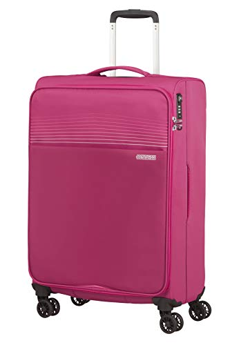 American Tourister Lite Ray Luggage- Suitcase, Spinner M (69 cm - 75 L), Magenta Haze