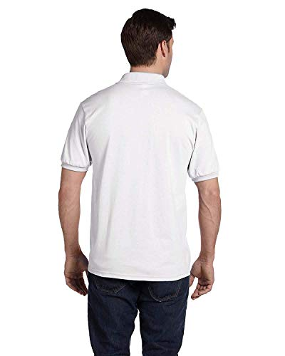 Hanes Adult ComfortBlend EcoSmart Polo Jersey Shirt, White, XX-Large
