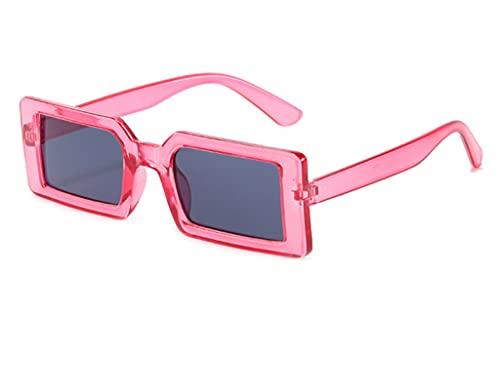 ODNJEMSD Sunglasses Women Square Small Frame Silver Light Green Dazzling Sunglasses